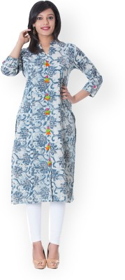 Mystique India Casual Printed Women Kurti(White) Flipkart