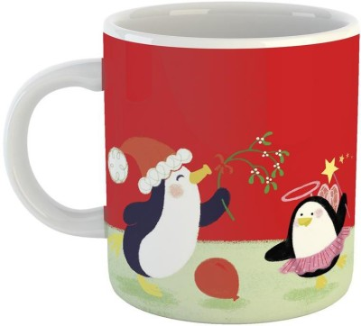 Mugs4You Penguin Group Winter mug,Coffee for friend,brother,sister,husband,wife, Glossy Finish Vibrant Print [400 ml Capacity ] Multicolor Ceramic Mug(350 ml)  available at flipkart for Rs.215