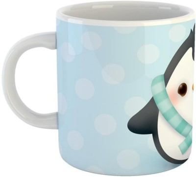 Mugs4You Snow Penguin Feeling Loved mug,Coffee for friend,brother,sister,husband,wife, Glossy Finish Vibrant Print [400 ml Capacity ] Multicolor Ceramic Mug(350 ml)  available at flipkart for Rs.215