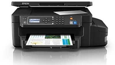 Epson L605 Multi function Wireless Printer Black, Refillable Ink Tank