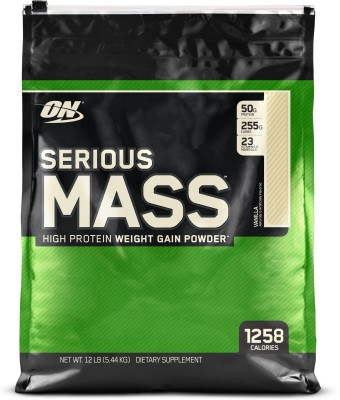 Optimum Nutrition Serious Mass Weight Gainers(5.44 kg, Vanilla)
