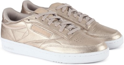 REEBOK CLUB C 85 MELTED METAL Tennis Shoes For Women(Gold)