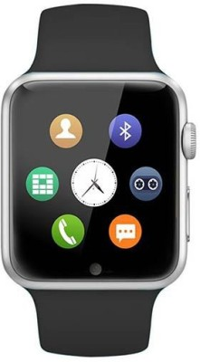 MOBILE LINK compatible bluetooth smartwatch with camera,sim-card slot and memory card slot Silver Smartwatch(Black Strap Free Size)