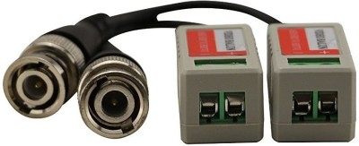 LipiWorld  TV-out Cable Video Balun AHD CVI TVI Coax to UTP Cat6 Connector HD 720P 1080P CCTV BNC(Black, For Camera)  available at flipkart for Rs.249