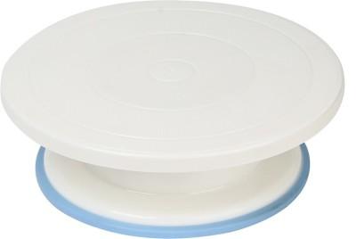 Gade Decorating Revolving Turntable, 28cm, White Plastic Cake Server(Pack of 1) at flipkart