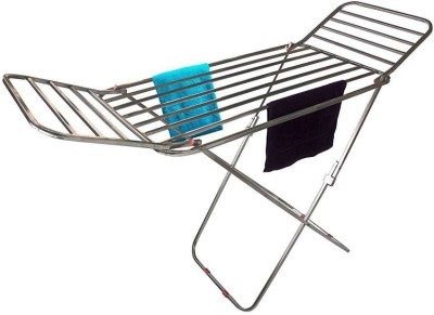 FAVOUR MADE IN INDIA PURE STAINLESS STEEL CLOTHES DRYING RACK Stainless Steel Floor Cloth Dryer Stand(Steel)