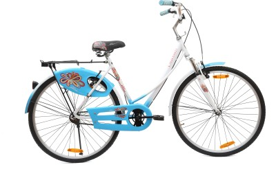 BSA LADYBIRD BLISS FX 26 T Single Speed Girls Cycle/Womens Cycle(White, Blue)