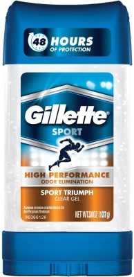 Gillette High ENDURANCE Sport Triumph Clear Gel Anti-Perspirant Deodorant Stick  -  For Men(107 g)  available at flipkart for Rs.577