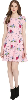 Honey By Pantaloons Women's Fit and Flare Pink Dress