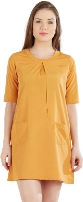 AND Women Shift Yellow Dress