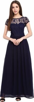 La Zoire Women Maxi Blue Dress