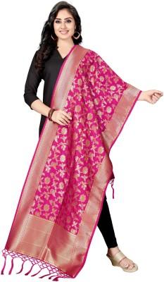 Rani Saahiba Art Silk, Brocade Printed Women Dupatta