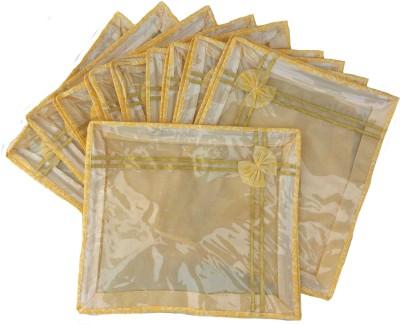 Indi Bargain Non woven Designer saree cover set of 10 Gold Indi Bargain Garment Covers