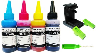 Canon Printer Refill Ink Kit with Suction tool for MG3670, MG2970, iP7270, MG2577, MG3070, MG2570, MG3077, MG2470, MG2577, MP2870, iP7270, MG3170, MP 287, PIXMA E500, E510, E400, E410, E560, E470, E480, E417 , E600, E610, E477 MG Series, MP Series, IP Series Multi Color Ink Cartridge(Cyan, Magenta,