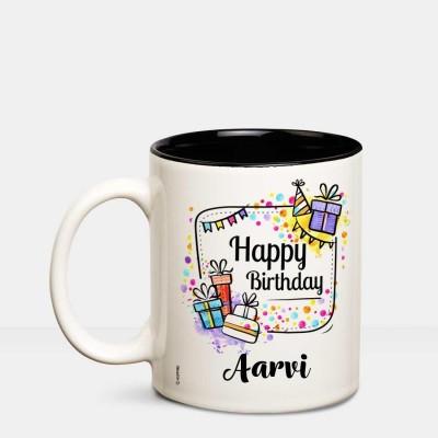 Huppme I Love you Aarvi romantic coffee mug Ceramic Mug(350 ml)