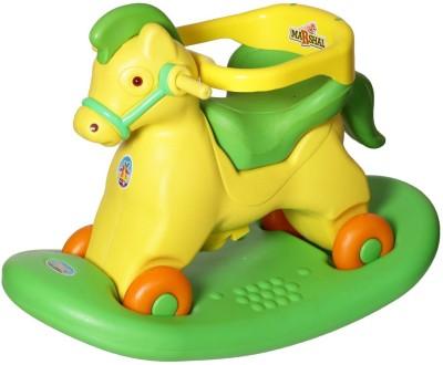 Toyshine 2 in 1 Horse Rocker Cum Ride On Toy For Kids{ Green ](Green)