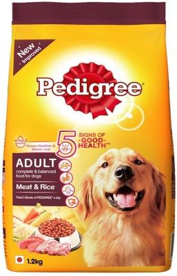 Pedigree adult Rice, Meat 1.2 kg Dry Dog Food