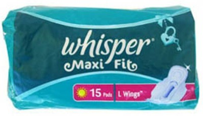 Whisper Maxi Fit L Wings Sanitary Pad(Pack of 15)