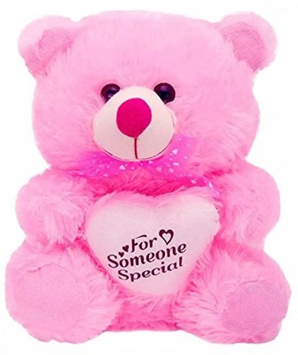 MTC For Someone Special Heart Stuffed Soft Plush Toy Kids cute Teddy Bear (Purple)- 30cm  - 30 cm(Pink)  available at flipkart for Rs.349
