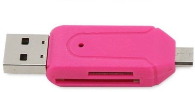 Freya Micro OTG TF T-flash for Cell Phone PC Card Reader USB Adapter(Multicolor)  available at flipkart for Rs.175