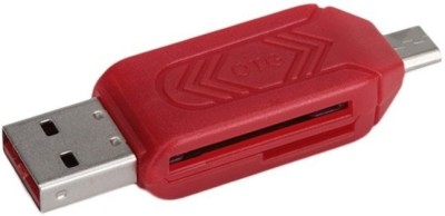 Freya USB 2.0 + Micro USB OTG SD T-Flash Adapter for Cell Phone PC Card Reader USB Adapter(Multicolor)  available at flipkart for Rs.175