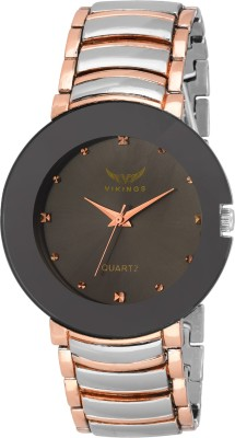 vikings UNISEX VK-GR120-BLK-TWO TONE - CHN TWO TONE SERIES Watch  - For Boys & Girls   Watches  (VIKINGS)