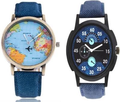 Maan International Combo of 2 LR002 & Blue Analogue Watch  - For Couple   Watches  (Maan International)