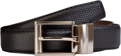 Scharf Men Formal, Casual Black Artificial Leather Reversible Belt