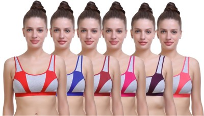 SK Dreams SK Dreams Women Sports Non Padded Bra(Multicolor)