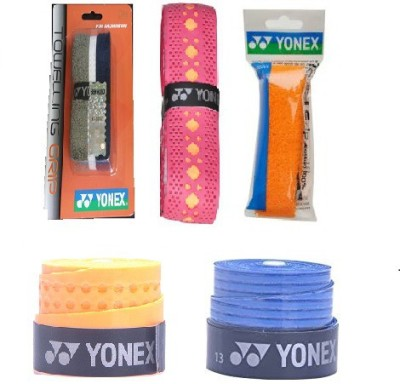 Yonex Combo of Badminton Racket Grips  Pack of 5    Color on availability  Smooth Tacky
