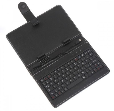 Shrih SH - 01353 Universal Leather Case Cover Stand Wired USB Tablet Keyboard(Black)