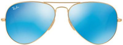 Ray-Ban Tech Aviator Sunglasses(Blue) at flipkart