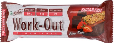 RiteBite Work-Out Sugar-Free Choco Berry Bar(50 g, Sachet)