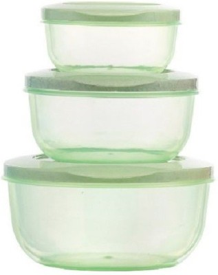 Mastercook Malta Set  - 290 ml, 580 ml, 1000 ml Plastic Grocery Container(Pack of 3, Green)