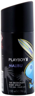 Playboy Malibu Deodorant Spray  -  For Men(150 ml)  available at flipkart for Rs.199