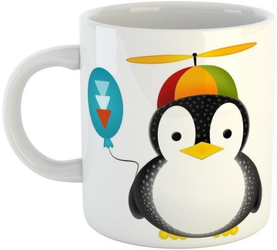 Mugs4You Cool Penguin Winter Style mug,Coffee for friend,brother,sister,husband,wife, Glossy Finish Vibrant Print [400 ml Capacity ] Multicolor Ceramic Mug(350 ml)  available at flipkart for Rs.215