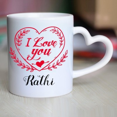 Huppme I Miss You Rathi Inner red mug Ceramic Mug(350 ml)