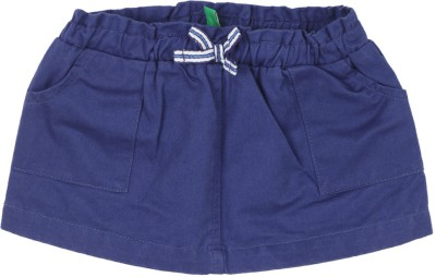 United Colors of Benetton. Solid Girls A-line Dark Blue Skirt at flipkart