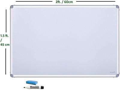 cognant Non Magnetic 1.5ft * 2ft Whiteboards and Duster Combos(Set of 1, White)