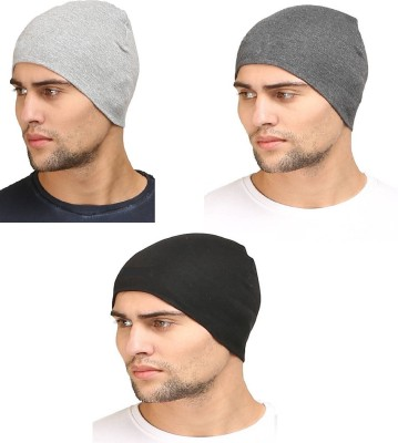 Atabz Solid Protective head ware double layer Cap(Pack of 3)