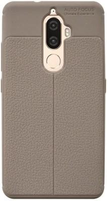 Coverage Back Cover for Lenovo K8 Plus(Golden, Rubber)