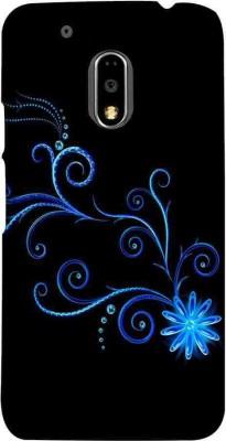CHAPLOOS Back Cover for Motorola Moto E3 Power(Blue, Plastic)