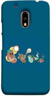 CHAPLOOS Back Cover for Motorola Moto E3 Power(Black, Plastic)