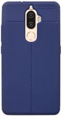 Coverage Back Cover for Lenovo K8 Plus(Royal Blue, Rubber)
