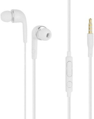 Digitalmart Top Selling Stereo Handsfree Earphones With Microphone For Samsung Galaxy & All 3.5mm Jack device. Wired Headset With Mic (White) Headphone(White, In the Ear)