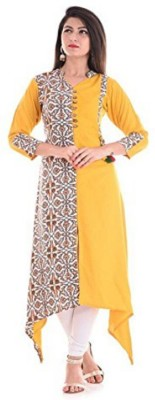 Tailor Nation Casual Block Print Women Kurti(Yellow)