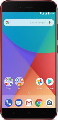 4GB|3080mAh  Mi A1 (Red, 64 GB) Now ₹14990