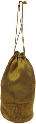 Shreeji Decoration Designer Net Handmade Silk Potli Batwa Pouch Bag Gift For Women Potli(Gold)  available at flipkart for Rs.99