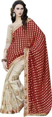Patang International Embellished Fashion Poly Viscose Chiffon Saree(Maroon) Flipkart