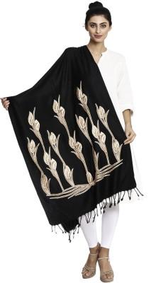 Asar Creations Self Design Woollen Muffler Stole Women Stole